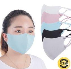 画像1: 冷感素材 ひもの長さの調整できる洗えるマスク  5枚セット